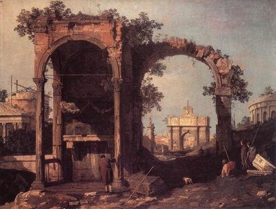 CANALETTO Capriccio Ruins And Classic Buildings