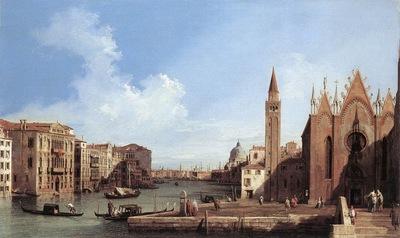 CANALETTO Grand Canal From Santa Maria Della Carita To The Bacino Di San Marco