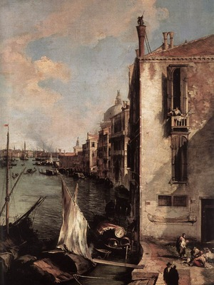 CANALETTO Grand Canal Looking East From The Campo San Vio detail