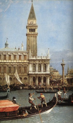 CANALETTO Return Of The Bucentoro To The Molo On Ascension Day detail