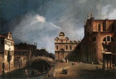 canaletto santi giovanni e paolo and the scuola di san marco