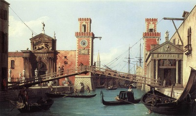 CANALETTO View Of the Entrance To The Arsenal