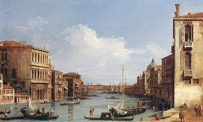 Canaletto The Grand Canal from Campo S  Vio towards the Bacino