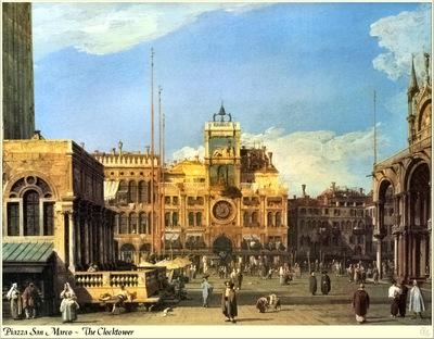 Republica SWD 006 Canaletto Piazza San Marco Clocktower