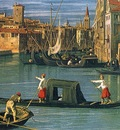 Canaletto The Grand Canal and the Church of the Salute detail