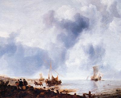 Cappelle van de Jan Ships along the coast Sun