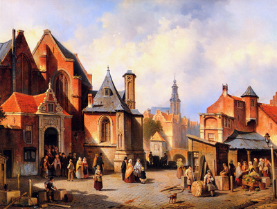 Carabain Jaques Francois A town in Holland Sun