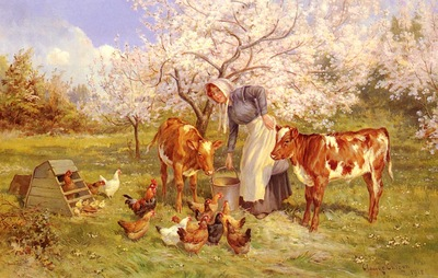 Cardon Claude Feeding Time In The Orchard