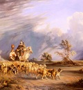 Carelli Consalvo Goat Herders In A Neapolitan Landscape