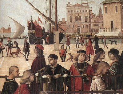 Carpaccio Arrival of the English Ambassadors detail2