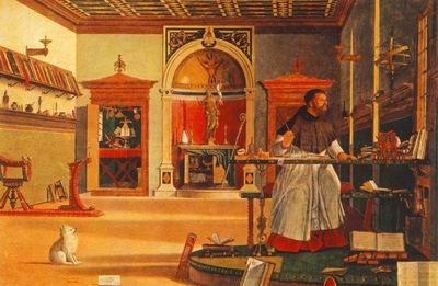 Carpaccio St Augustine in his studio, 1502, 141x210, Oratori