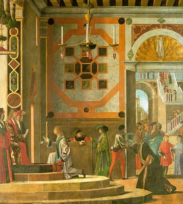 Carpaccio The Ambassadors Depart, 1494, 280x253, Gallerie de