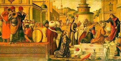 Carpaccio The Baptism of the Selenites, 1502, 141x285, Orato