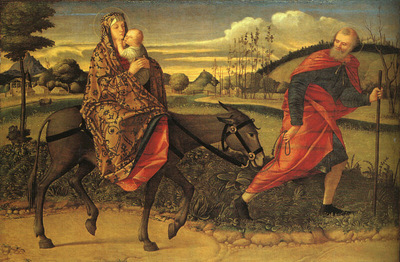 Carpaccio The Flight into Egypt, 1500, NG Washington