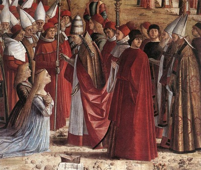 Carpaccio The Pilgrims Meet the Pope detail1
