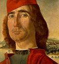 Carpaccio Portrait of an Unknown Man with Red Beret, 35x23 c