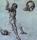 Carpaccio Three studies of a cavalier in armor