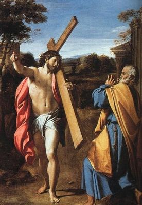 carracci domine quo vadis, 1601