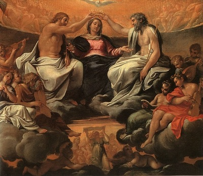 CARRACCI THE CORONATION OF THE VIRGIN, OIL ON CANVAS