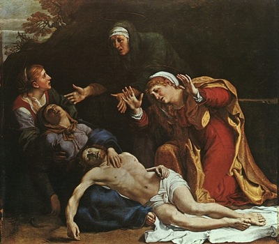 carracci the dead christ mourned, approx
