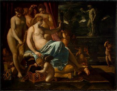 Carracci Venus Adorned by the Graces, 1590 1595, 133x170 5 c