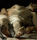 Carracci,Annibale The dead Christ c 1582, Stuttgart Staatsga