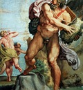 Carracci Annibale Polyphemos hurls a rock to Akis Sun