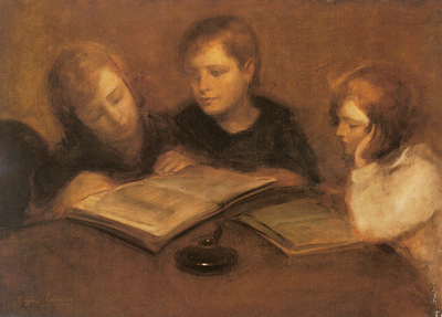 Carriere Eugene Girls Reading