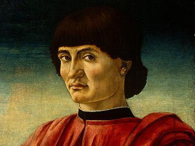 Andrea del Castagno Portrait of a Man, c 1450, Detalj 1, NG