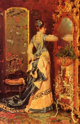 Catala Luis Alvarez Woman Before A Mirror