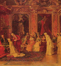 Catala Luis Alvarez 1836 to 1901 Princess Borghese Bestowing Dowries 1879 O C 28 35in by 49 25in