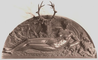 cellini nymph of fontainebleau, 1542