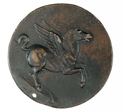 Cellini Benvenuto Coin Pegasus on the fountain Hippocrene