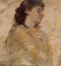 Chaplin Charles Portrait of a Young Woman in Profile