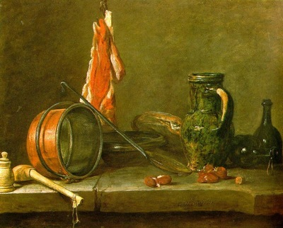 chardin a lean diet with cooking utensils,