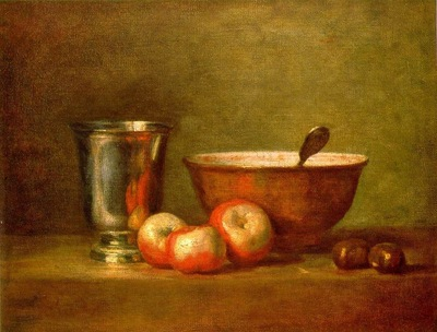 CHARDIN THE SILVER GOBLET, OIL ON CANVAS