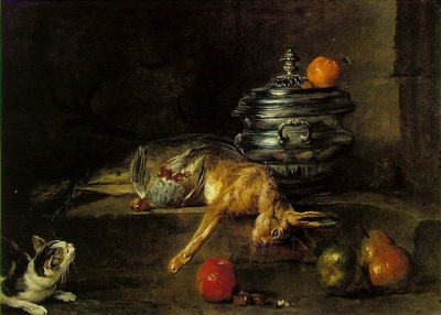 CHARDIN THE SILVER TUREEN, 1728, OIL ON CANVAS