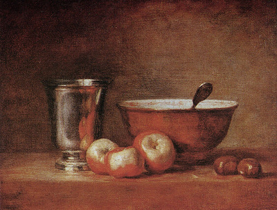 Chardin Jean Baptiste The silver cup
