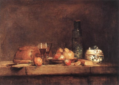 Chardin Still Life with Jar of Olives