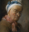 Chardin Jean Baptiste Selfportrait with glasses