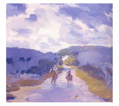 fl art015 horseback riders louis charles vogt