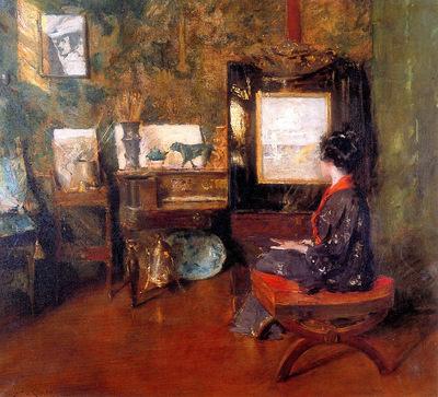 Chase William Alice in studio in Shinnecock Long Island Sun