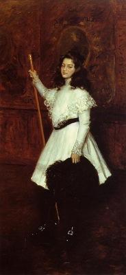 Chase William Merritt Girl in White aka Portrait of Irene Dimock