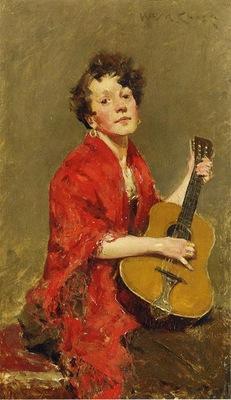 Chase William Merritt Girl with Guitar
