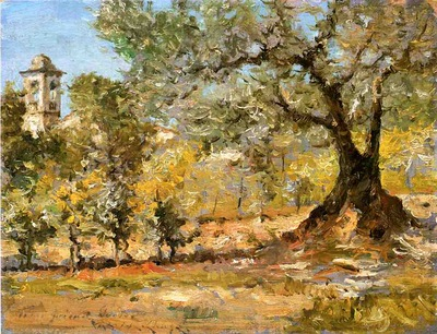 Chase William Merritt Olive Trees Florence