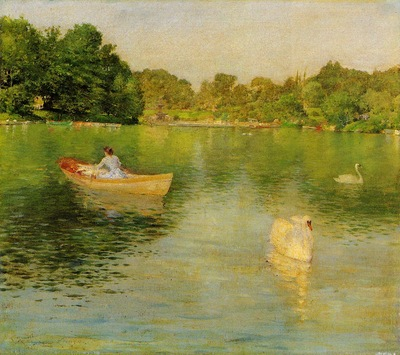 Chase William Merritt On the Lake Central Park
