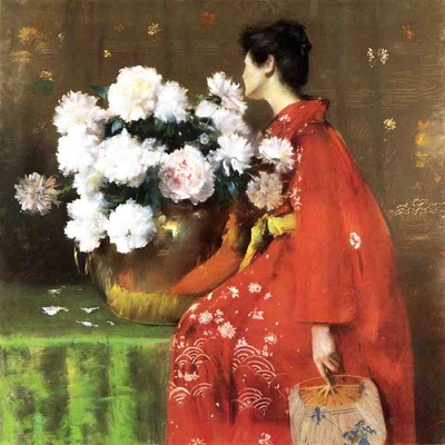 Chase William Merritt Peonies c1897