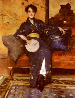 Chase William Merritt The Blue Kimono