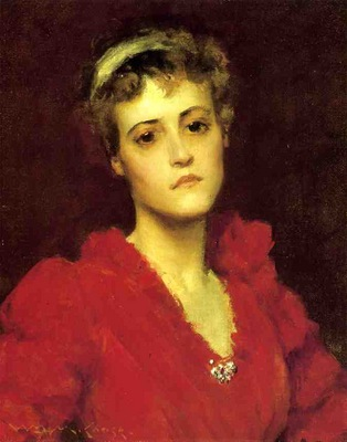 Chase William Merritt The Red Gown