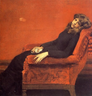 Chase William Merritt The Young Orphan Study of a Young Girl aka At Her Ease